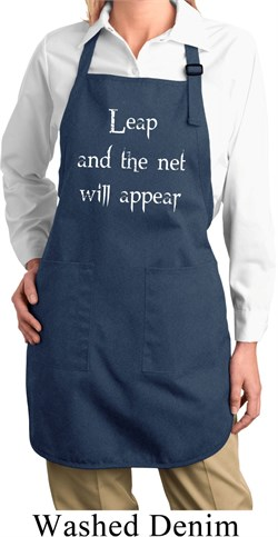 Image of Ladies Yoga Apron Leap Full Length Apron with Pockets