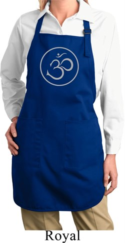 Image of Ladies Yoga Apron Thin OM Full Length Apron with Pockets