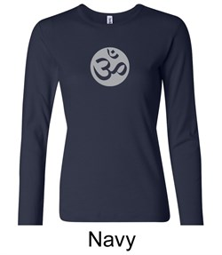Ladies Yoga T-shirt ? Om Symbol Big Print Long Sleeve Shirt