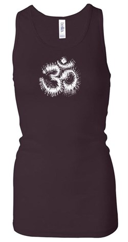 Ladies Yoga Tanktop OM Tie Dye Longer Length Racerback Tank Top