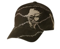 printed-skull-barb-wire-hat-flexible-lackpard-cap-dark-olive-green