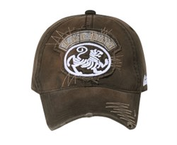 lion-on-distressed-patch-vintage-hat-lackpard-cap-dark-olive-green