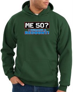 Image of 50th Birthday Hooded Hoodie Funny Me 50 Years Dark Green Hoody