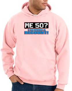 Image of 50th Birthday Hooded Hoodie Funny Me 50 Years Pink Hoody Sweatshirt