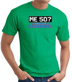Image of 50th Birthday T-shirt Funny - Me 50 Years Adult Kelly Green Tee Shirt