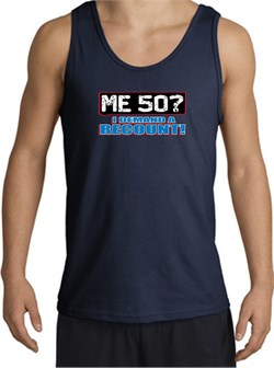 Image of 50th Birthday Tanktop - Funny Me 50 Years Adult Navy Tank Top