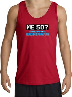 Image of 50th Birthday Tanktop - Funny Me 50 Years Adult Red Tank Top