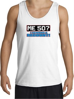 Image of 50th Birthday Tanktop - Funny Me 50 Years Adult White Tank Top