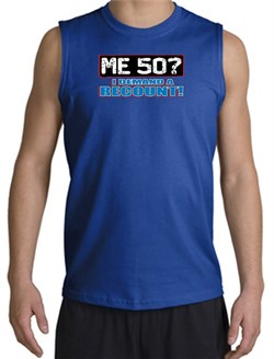 Image of 50th Birthday Shooter - Funny Me 50 Years Adult Royal Muscle Shirt