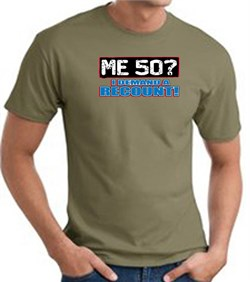 Image of 50th Birthday T-shirt Funny - Me 50 Years Adult Army Green Tee Shirt