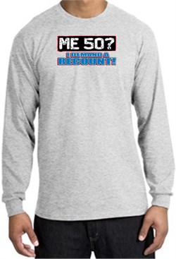Image of 50th Birthday Long Sleeve Shirt - Funny Me 50 Years Ash Longsleeve