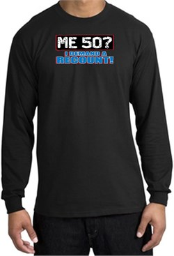 Image of 50th Birthday Long Sleeve Shirt - Funny Me 50 Years Black Longsleeve