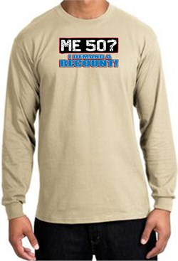 Image of 50th Birthday Long Sleeve Shirt - Funny Me 50 Years Sand Longsleeve
