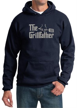 Mens Funny Hoodie The Grill Father Hoody