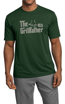 Mens Funny Shirt The Grill Father Moisture Wicking Tee T-Shirt