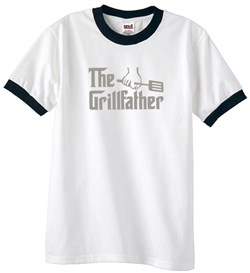 Mens Funny Shirt The Grill Father Ringer Tee T-Shirt