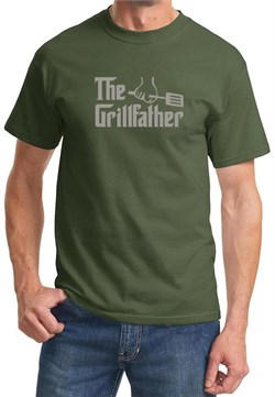 Mens Funny Shirt The Grill Father Tee T-Shirt