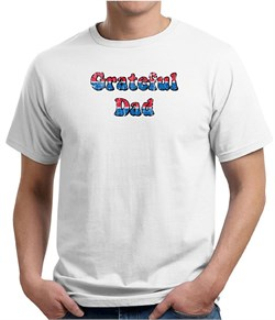 Mens Shirt Grateful American Dad Organic Tee T-Shirt