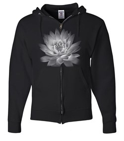 Mens Yoga Full Zip Hoodie Lotus Flower
