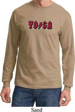 Mens Yoga Shirt Classic Rock Yoga Long Sleeve Tee T-Shirt
