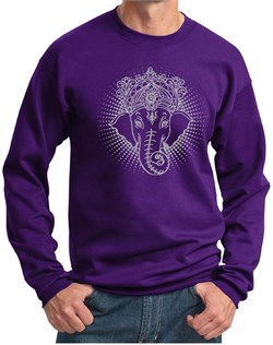 Mens Yoga Sweatshirt Iconic Ganesha Sweat Shirt