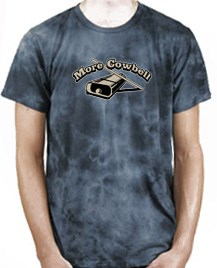 Image of Drummer Shirt More Cowbell Funny Musician Ocean Wash T-shirt