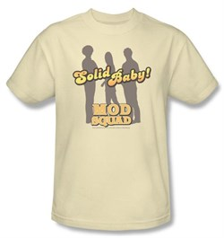 The Mod Squad T-shirt Solid Mod Cream Adult Tee