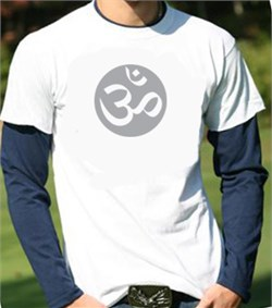 Mens Yoga Shirt ? Om Symbol Adult Shirt in Shirt Long Sleeve Shirt