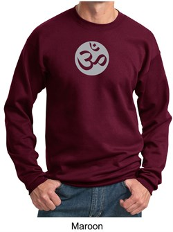 Mens Yoga Sweatshirt ? Om Symbol Meditation Adult Sweat Shirt