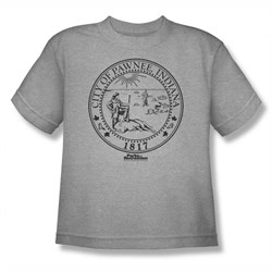 Parks And Recreation Shirt Kids City Seal Silver T-Shirt