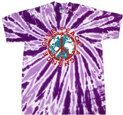 Peace Tie Dye T-shirt Give Peace A Chance Purple Tie Dye