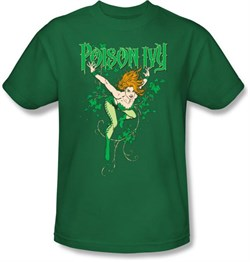 Poison Ivy T-shirt - Poison Ivy DC Comics Adult Kelly Green Tee