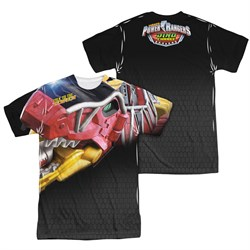Product Image of Power Rangers Shirt Red Zord Sublimation Shirt Front/Back Print
