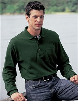 Image of Men's Tall Sizes Spartan Long Sleeve Golf Sport Shirt With Pocket