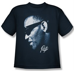 Ray Charles Kids Shirt Blue Ray Navy Youth Tee T-Shirt