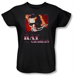 Product Image of Ray Charles Ladies Shirt Sing It Black Tee T-Shirt