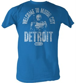 Robocop T-Shirt - Welcome Adult Royal Blue Tee Shirt