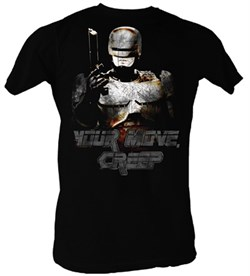 Robocop T-Shirt - Your Move Creep Adult Black Tee Shirt