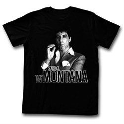 Scarface Shirt Tony Montana Distressed Black T-Shirt