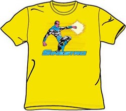Sinestro T-shirt - Sinestro DC Comics Supervillain Adult Yellow Tee