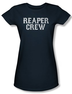 Sons Of Anarchy Shirt Juniors Reaper Crew Navy Tee T-Shirt