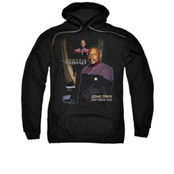 Star Trek - Deep Space Nine Hoodie Sweatshirt Captain Sisko Black Adult Hoody Sweat Shirt