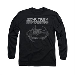 Star Trek - Deep Space Nine Shirt DS9 Station Long Sleeve Black Tee T-Shirt