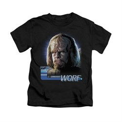 Star Trek - The Next Generation Shirt Kids TNG Worf Black Youth Tee T-Shirt