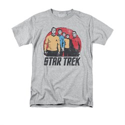 Star Trek - The Original Series Shirt Landing Party Adult Athletic Heather Tee T-Shirt