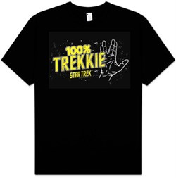 Star Trek Shirt - 100% Trekkie Adult Black