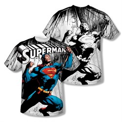 Image of Superman To Infinity Sublimation Kids Shirt Front/Back Print