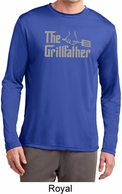 The Grill Father Mens Dry Wicking Long Sleeve Shirt