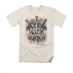 The Hobbit Battle Of The Five Armies Shirt Battle Of Armies Adult Cream Tee T-Shirt