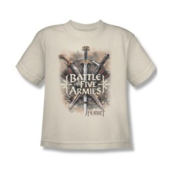 The Hobbit Battle Of The Five Armies Shirt Kids Battle Of Armies Cream Youth Tee T-Shirt